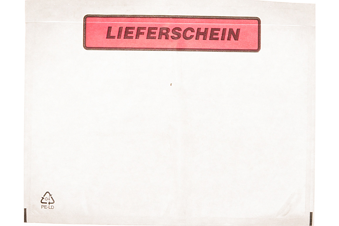 Begleittaschen C6 SK Lieferschein, Art.-Nr. 00517 - Paterno Shop