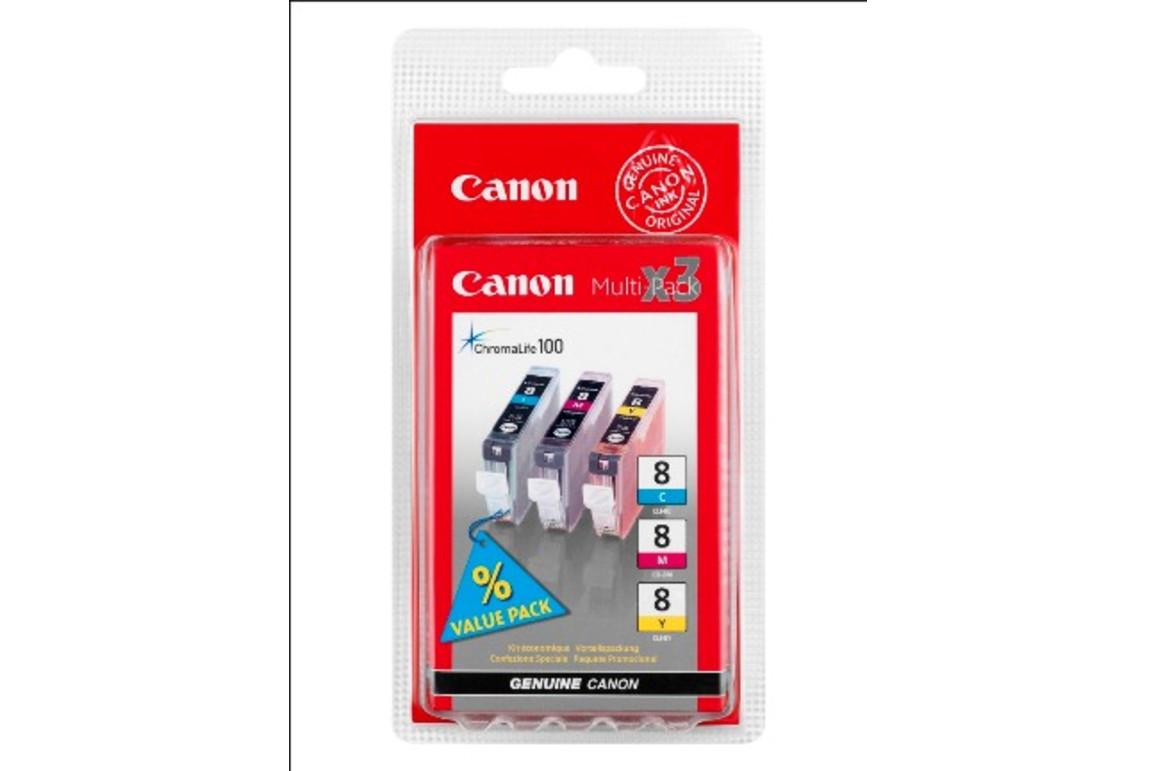 Canon CLI8 Multi Pack C/M/Y je 13ml, Art.-Nr. 0621B029 (0621B026) - Paterno Shop