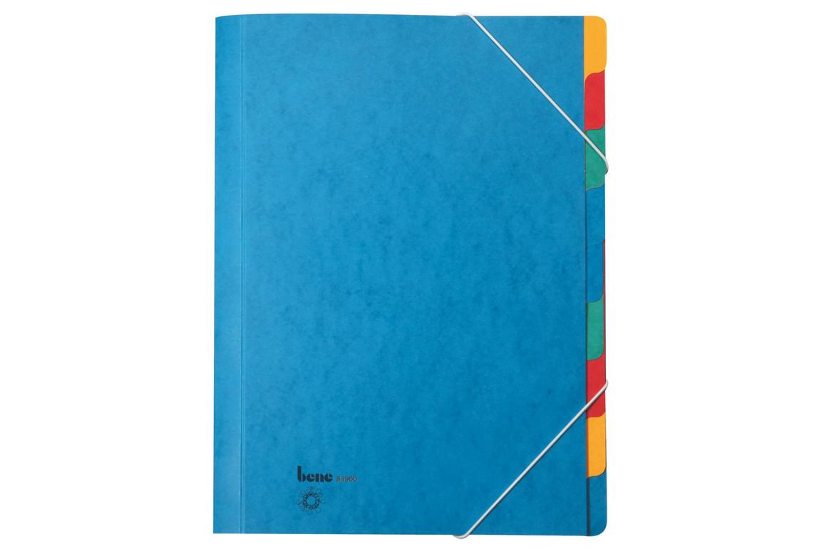 Ordnungsmappe Bene A4 9-teilig Blau, Art.-Nr. 084900 - Paterno Shop