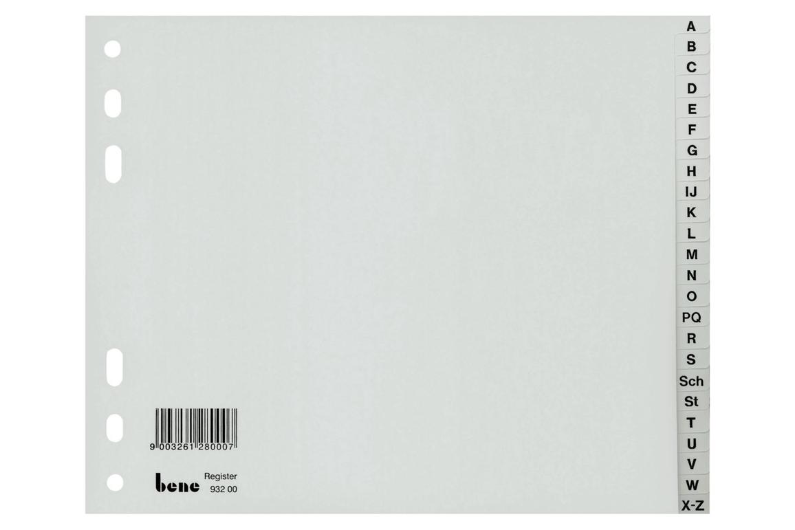 Register Bene A-Z 24-teilig grau, Art.-Nr. 093200 - Paterno Shop