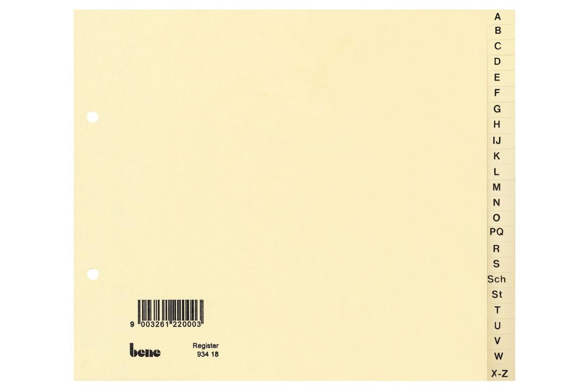 Register Bene A-Z 24 teilig, Art.-Nr. 093418 - Paterno Shop