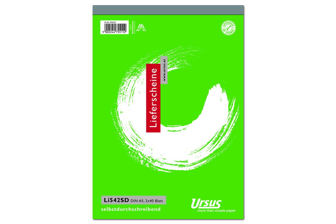 Lieferscheinbuch LI542SD A5 hoch 2x40 Blatt, Art.-Nr. 094201 - Paterno Shop