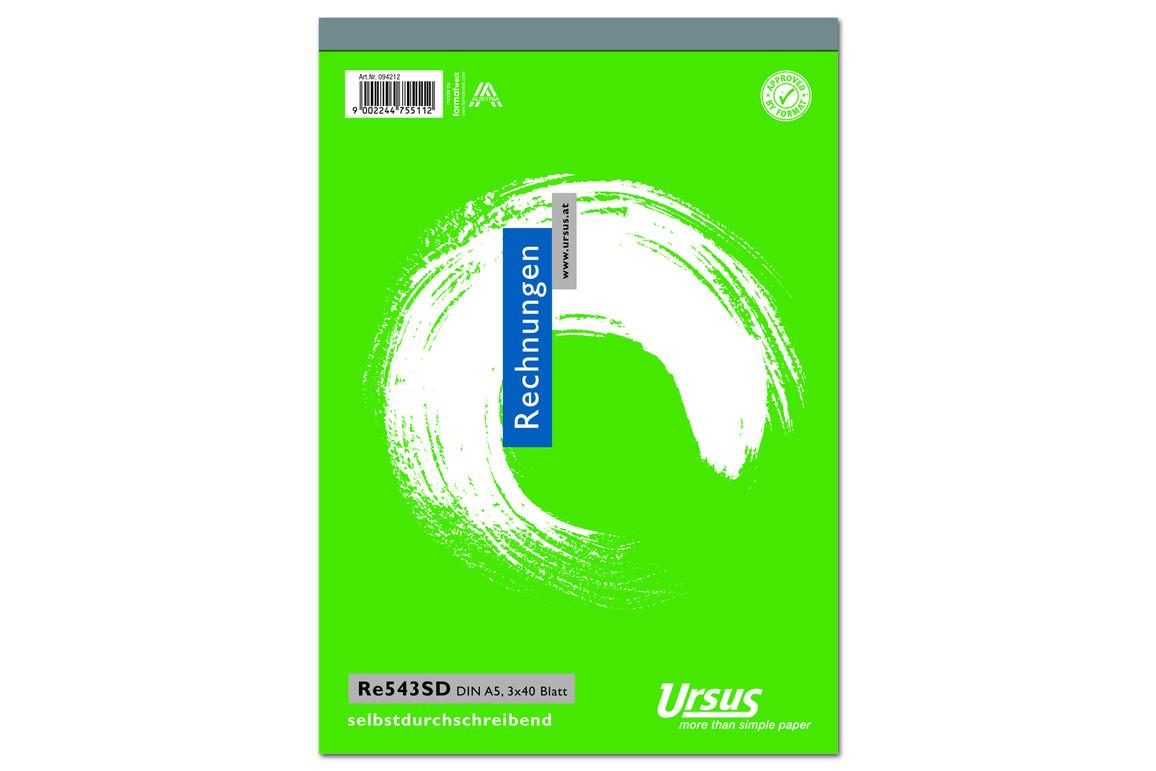 Rechnungsbuch RE543SD A5 hoch 3x40 Blatt, Art.-Nr. 094212 - Paterno Shop
