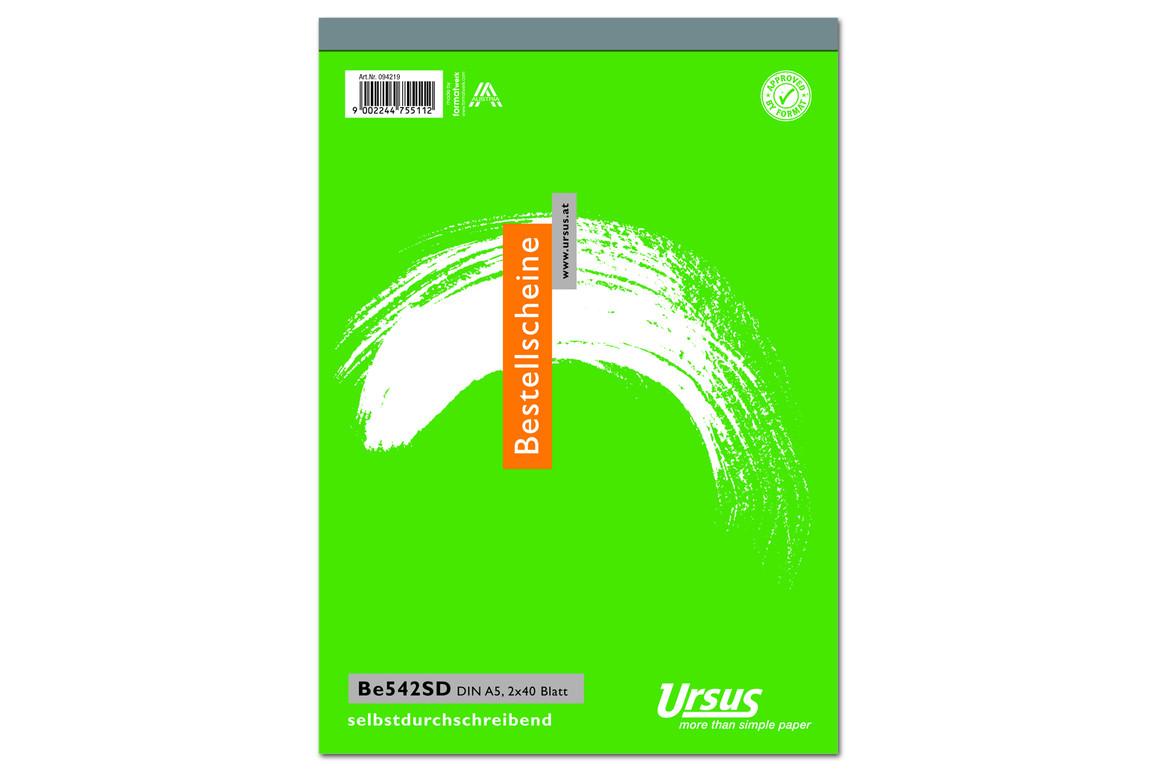 Bestellscheinbuch BE542SD A5 hoch 2x40 Blatt, Art.-Nr. 094219 - Paterno Shop