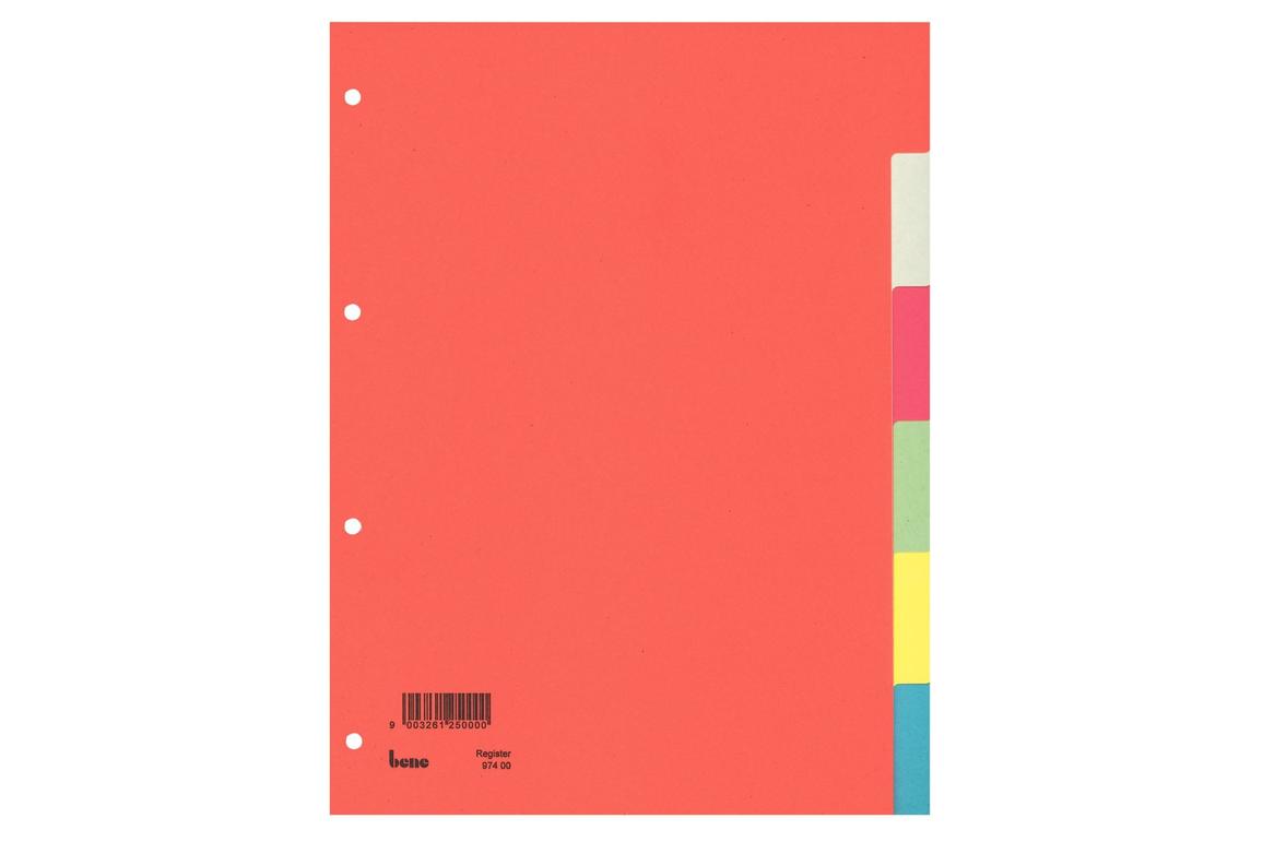 Farbregister Bene A4 6-teilig, Art.-Nr. 097400 - Paterno Shop
