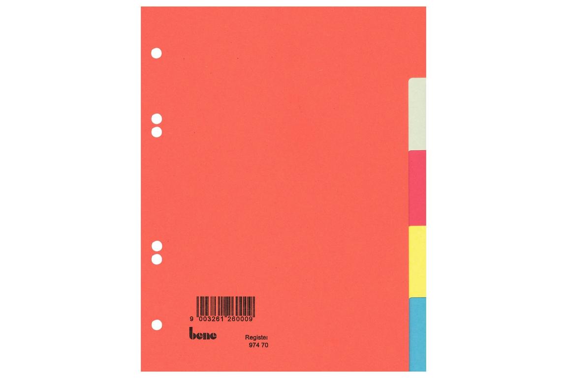 Farbregister Bene A5 5-teilig, Art.-Nr. 097470 - Paterno Shop