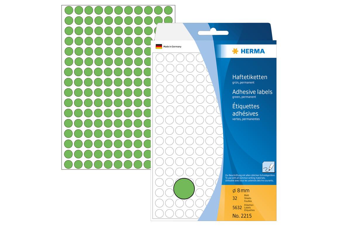 Markierungspunkte Herma 8 mm grün, Art.-Nr. 2215 - Paterno Shop