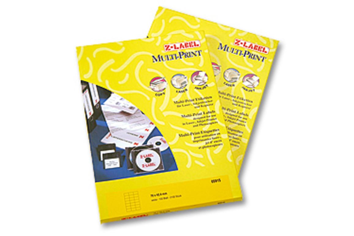 Kopieretiketten A4 Z-Products 70 x 50,8 mm, Art.-Nr. 24208 - Paterno Shop