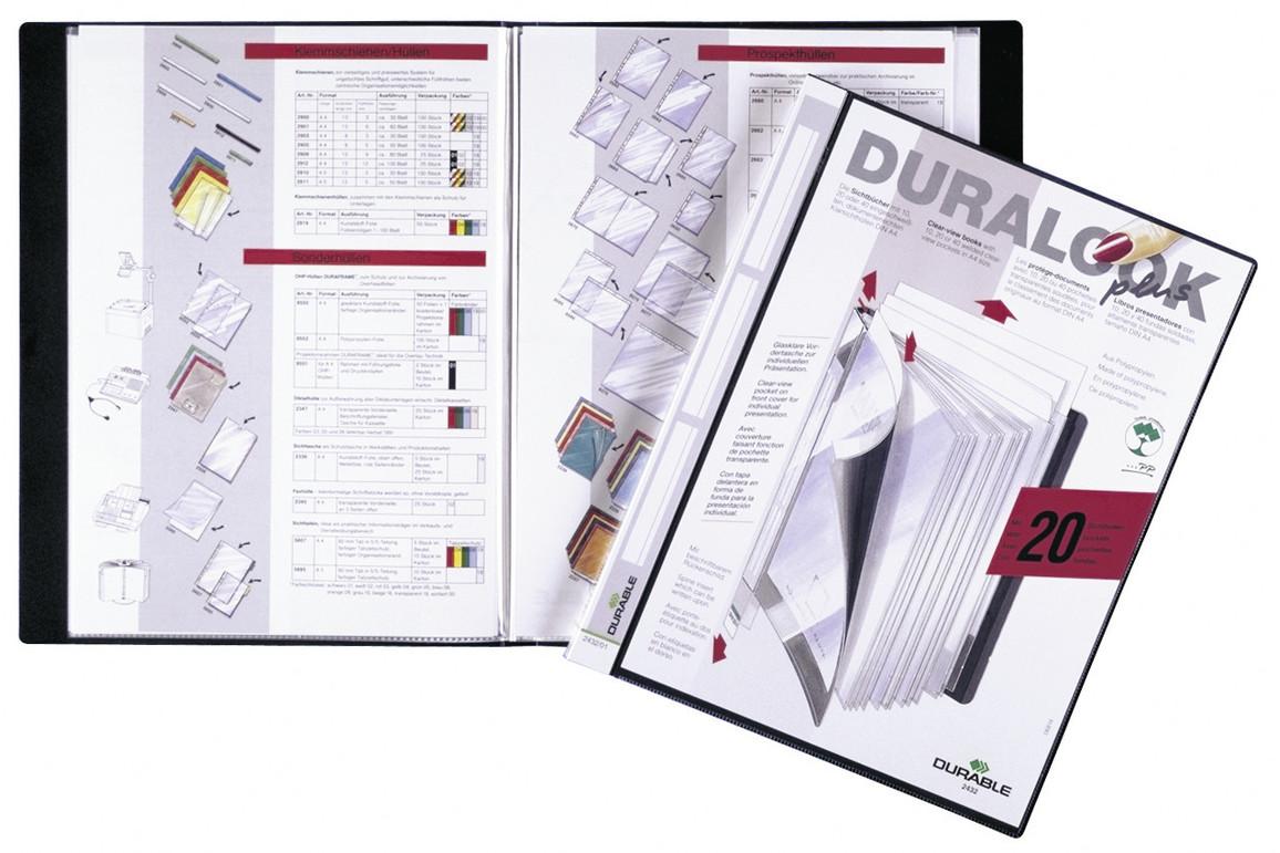 Sichtbuch Duralook Plus A4 17 mm schwarz, Art.-Nr. 2432-01 - Paterno Shop