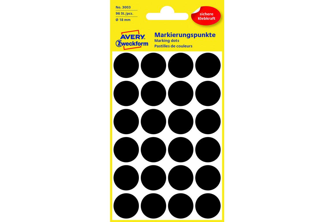 Markierungspunke ZWF Ø 18 mm, schwarz, Art.-Nr. 3003ZWF - Paterno Shop