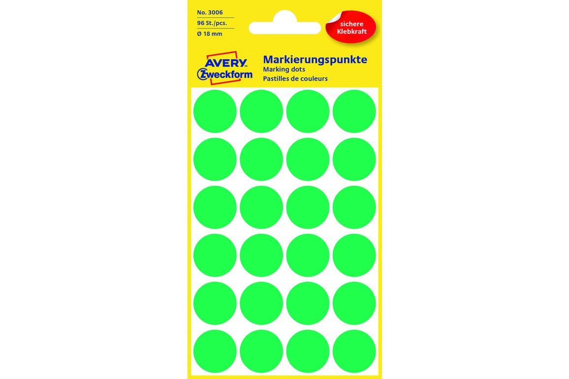 Markierungspunke ZWF  Ø 18 mm, grün, Art.-Nr. 3006ZWF - Paterno Shop