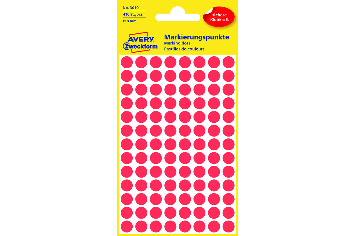 Markierungspunke ZWF Ø 8 mm, rot, Art.-Nr. 3010ZWF - Paterno Shop
