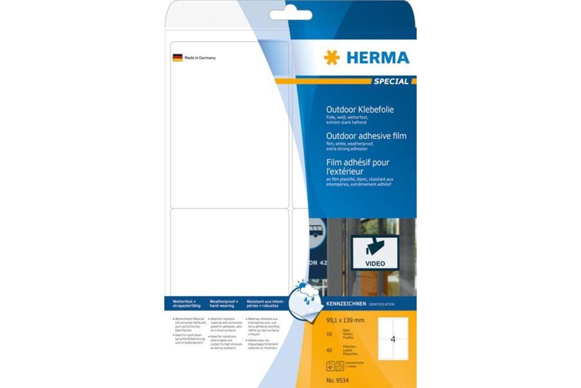 Etiketten Herma Outdoor 139 x 99,1 mm weiss, Art.-Nr. 9534E - Paterno Shop