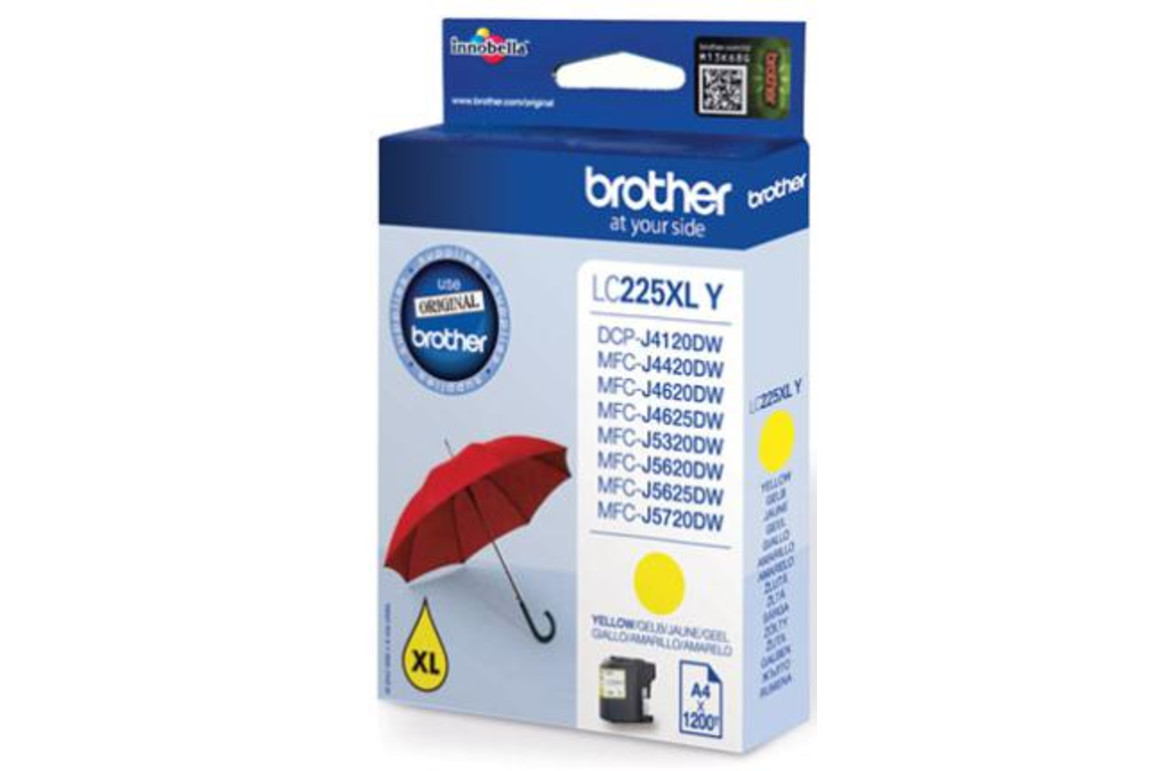 Brother Ink yell. HY 1,2K, Art.-Nr. LC-225XL-Y - Paterno Shop