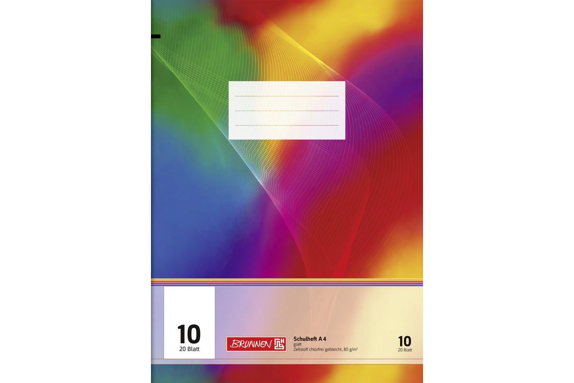 Heft Brunnen A4 20 Blatt glatt 10 FS, Art.-Nr. 026442-10 - Paterno Shop