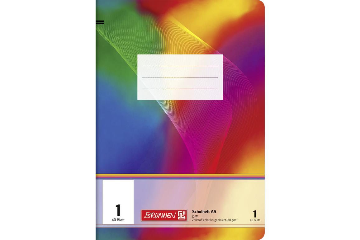 Heft Brunnen A5 40 Blatt kariert mit Rahmen, Art.-Nr. 026454-14RM - Paterno Shop