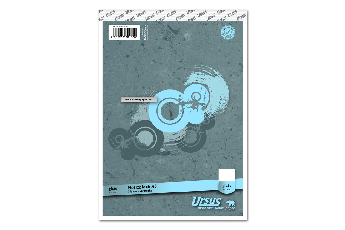 Notizblock Format X A5 96 Bl. lin., Art.-Nr. 036596-10 - Paterno Shop