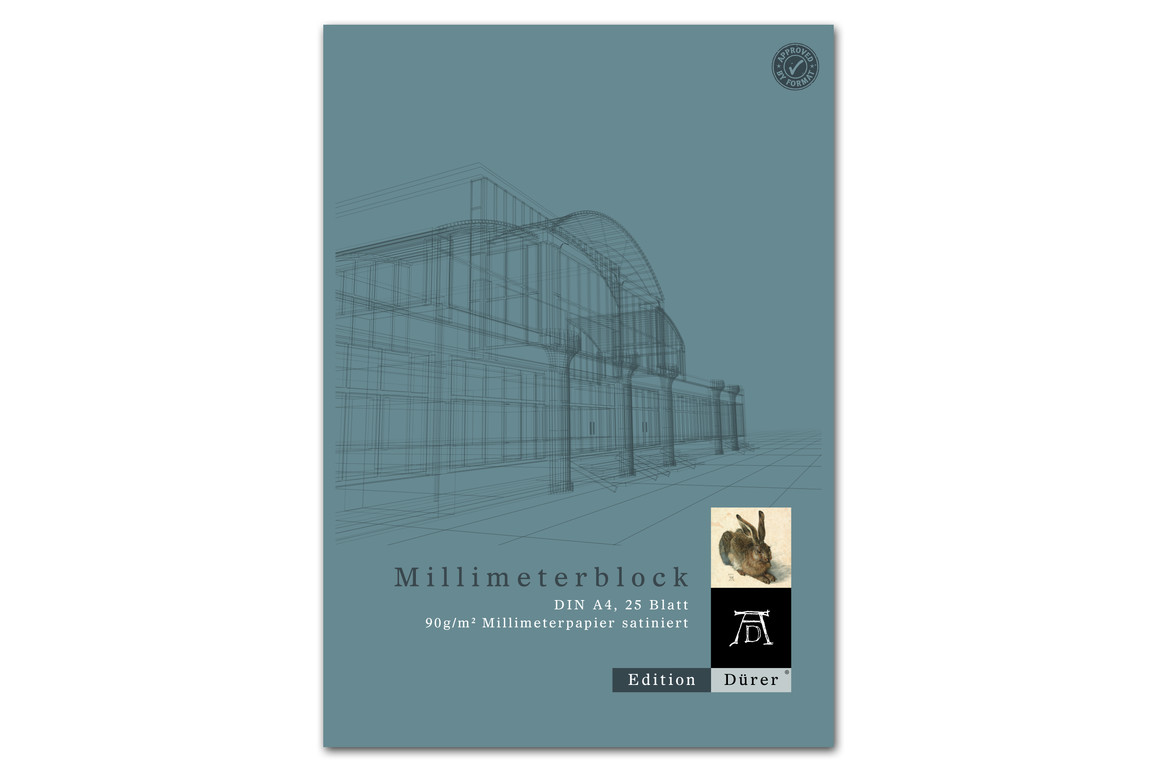 Millimeterpapierblock A4 25 Blatt 90g/qm Format X, Art.-Nr. 036700014 - Paterno Shop