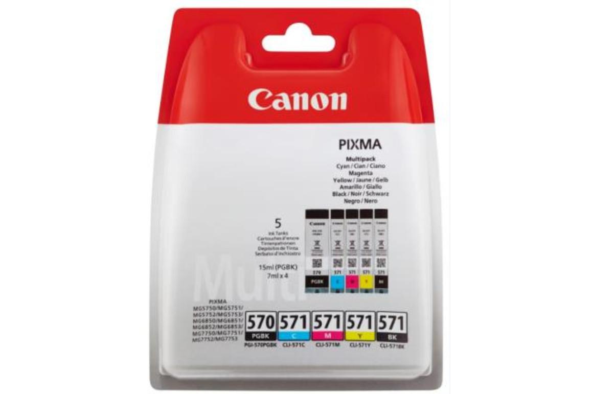 Canon Ink Multi Pack PGI570 PGBK CLI571 C/M/Y/BK je 7ml, Art.-Nr. 0372C004 - Paterno Shop