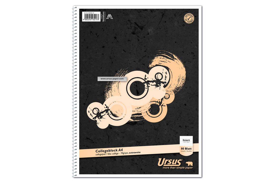Kollegblock Ursus A4 80 Blatt liniert, Art.-Nr. 044330-10 - Paterno Shop