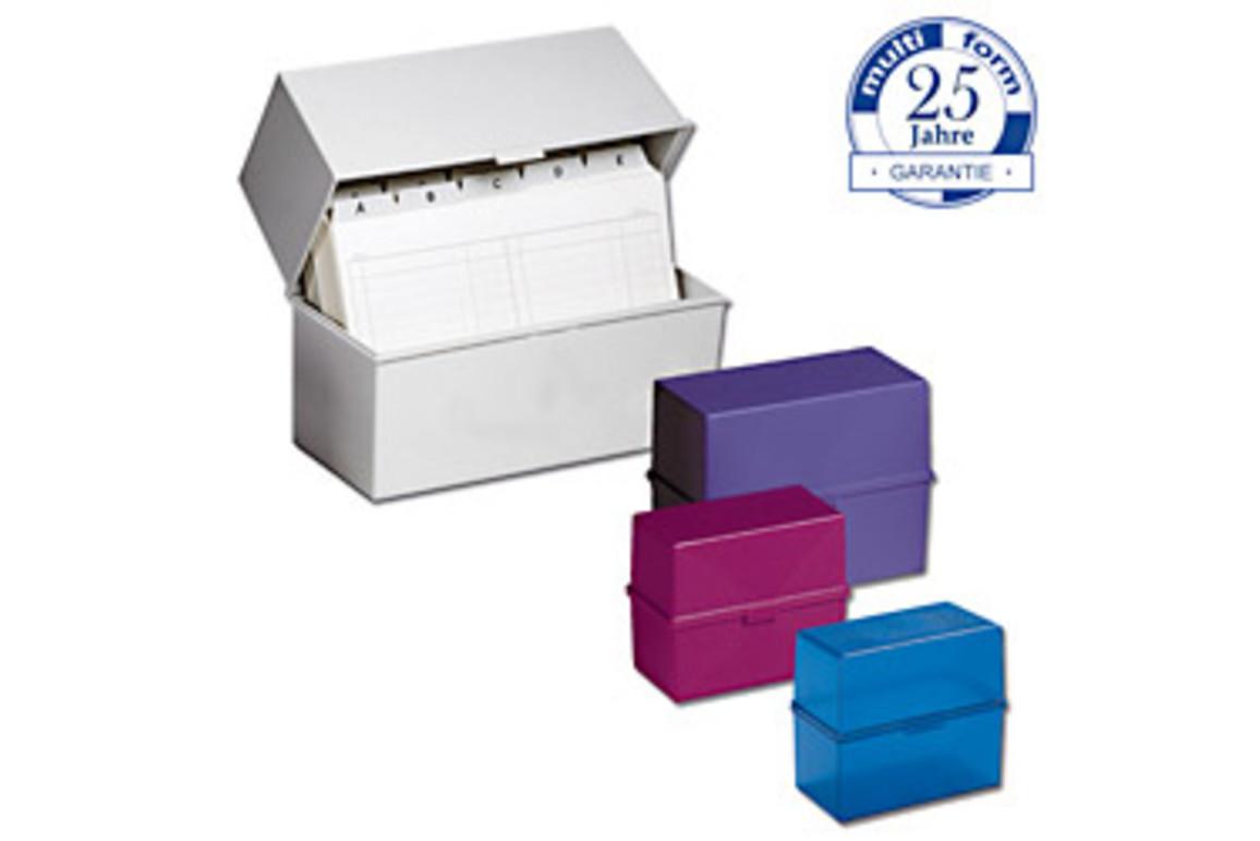 Karteikassette Multiform A7 himbeertransparent, Art.-Nr. 0516-HTR - Paterno Shop