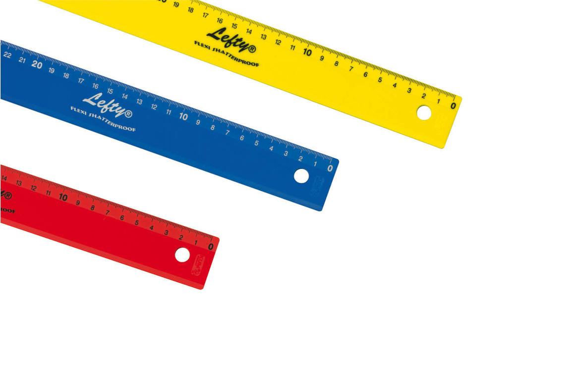 Lineal 30 cm Wedo farbig Linkshändler, Art.-Nr. 05235 - Paterno Shop