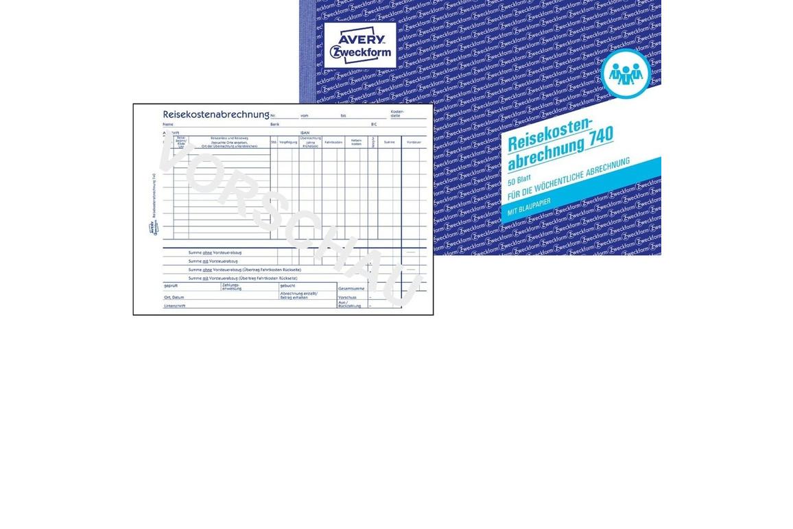 Reisekostenbuch DIN  A5 quer 50 Blatt, Art.-Nr. 0740ZWF - Paterno Shop