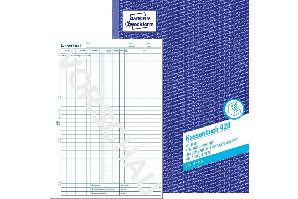 Kassabuch für EDV  A4 hoch, Art.-Nr. 0426ZWF - Paterno Shop