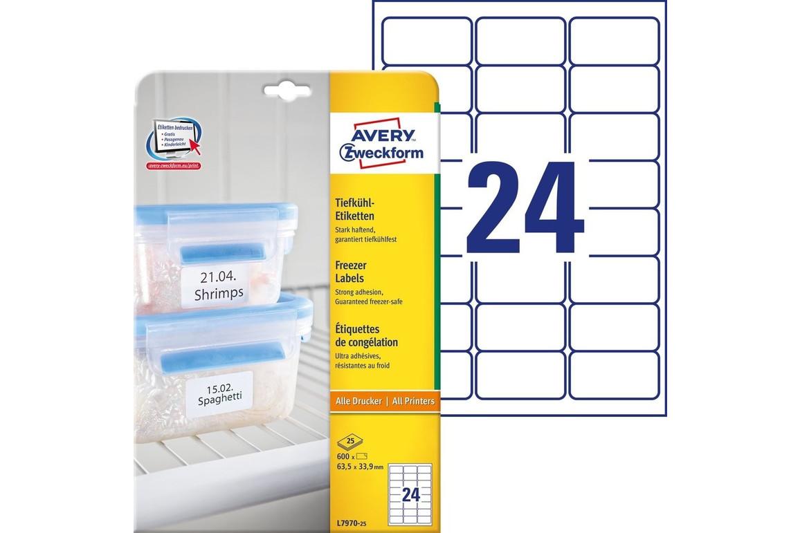 Tiefkühl-Etiketten ZWF 63,5x33,9mm, Art.-Nr. L7970-25 - Paterno Shop
