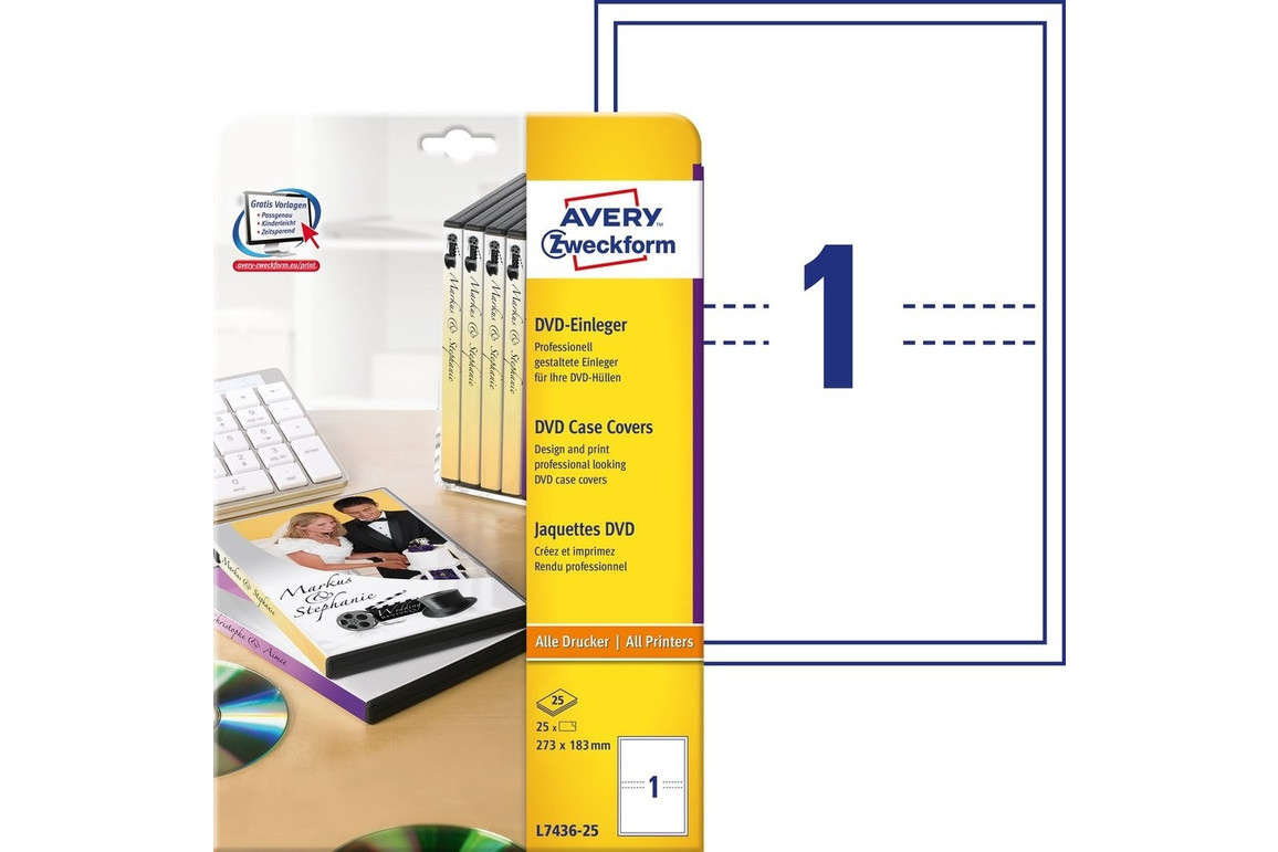 DVD-Einleger 273x183mm ILK, Art.-Nr. L7436-25 - Paterno Shop