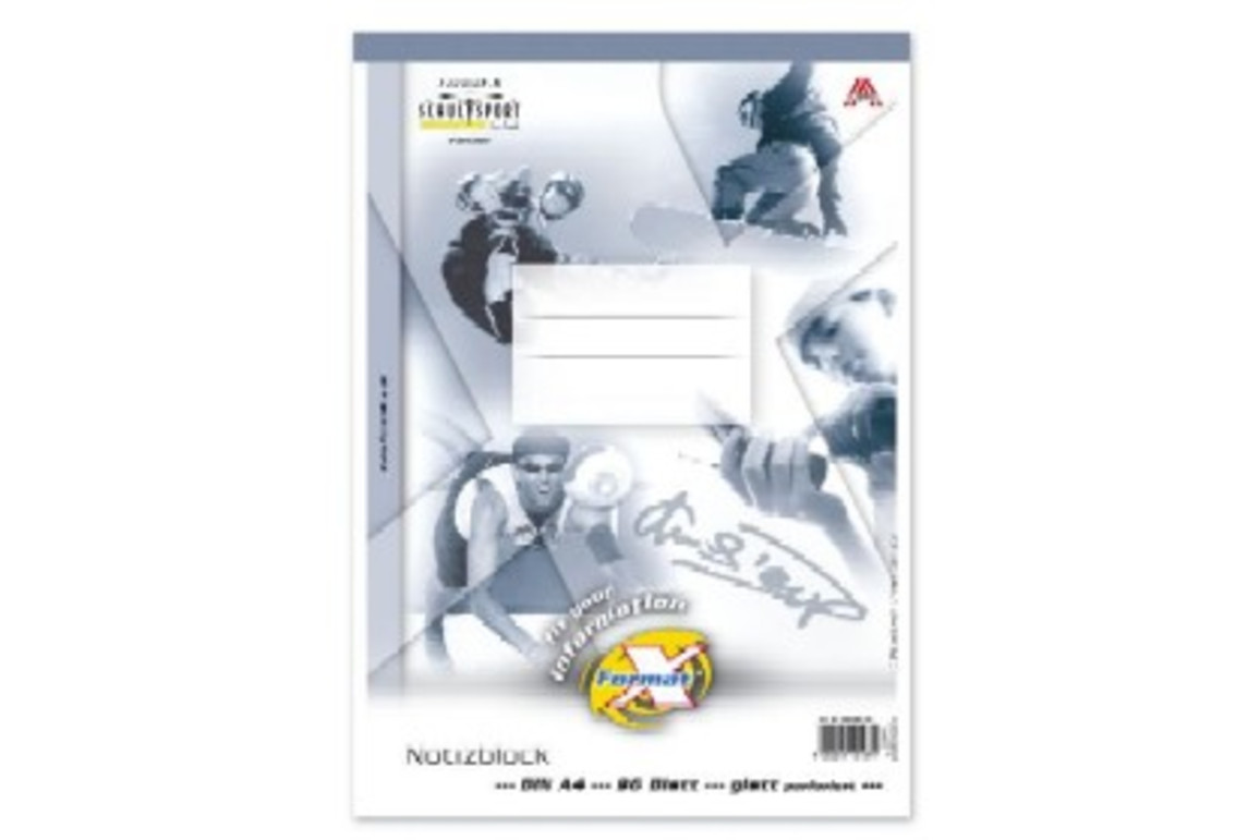 Notizblock Format X A4 96 Bl. glatt, Art.-Nr. 036496-00 - Paterno Shop