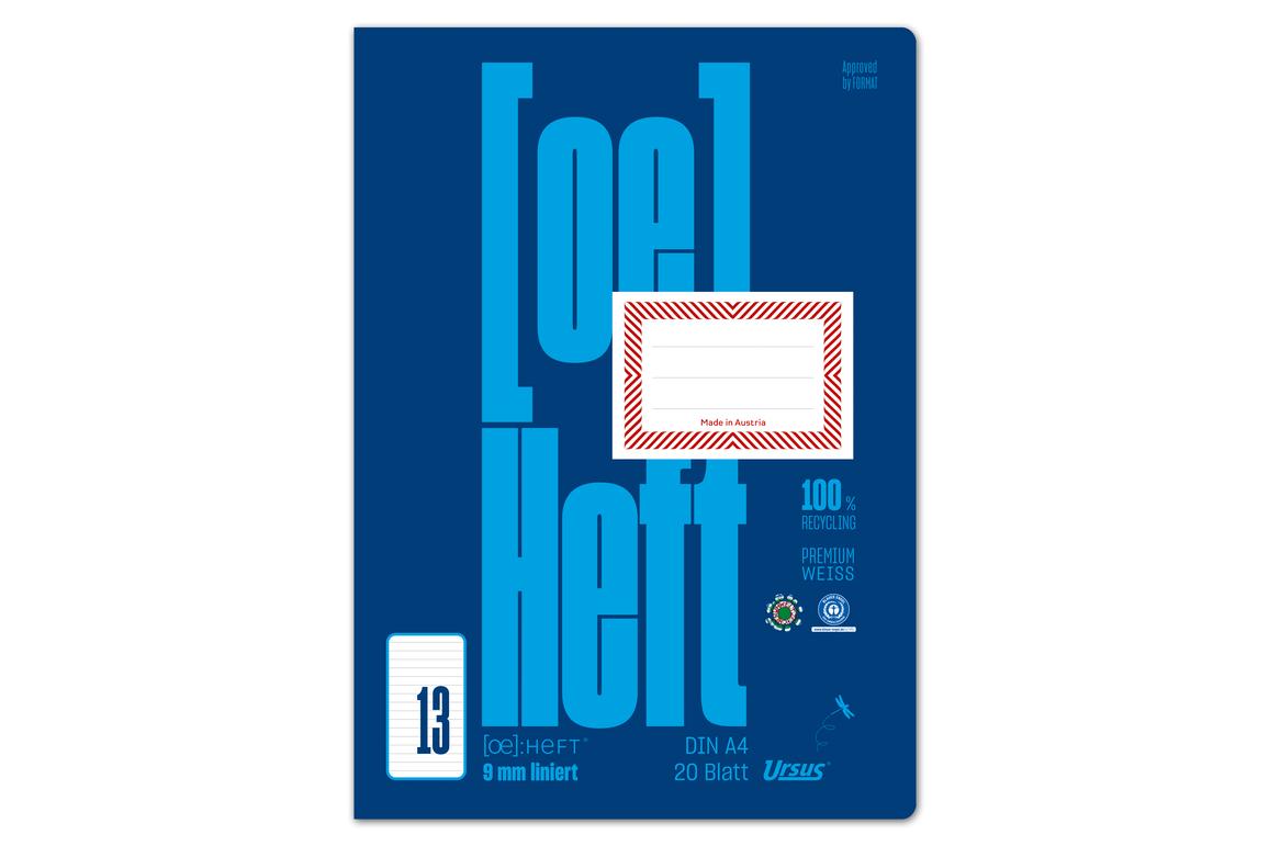 Heft Ursus ÖHeft A4 20 Blatt glatt, Art.-Nr. 0604301-00 - Paterno Shop