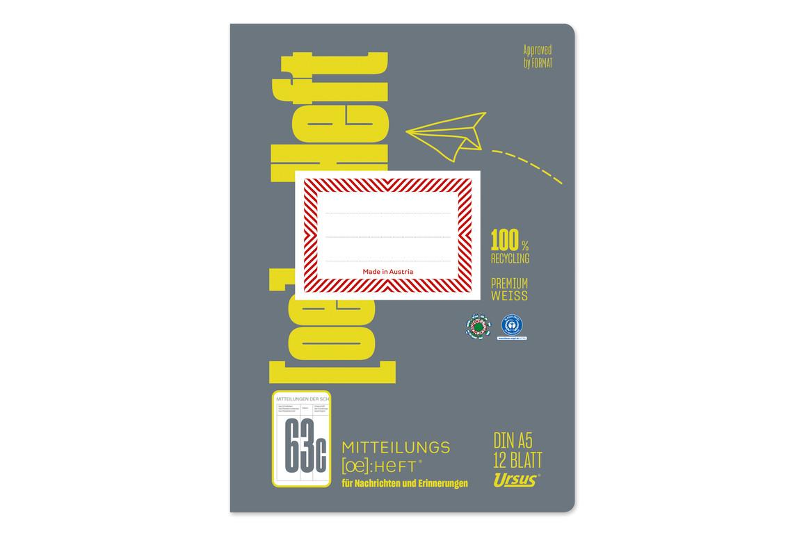 Mitteilungsheft Format X A5 12 Blatt, Art.-Nr. 078013 - Paterno Shop