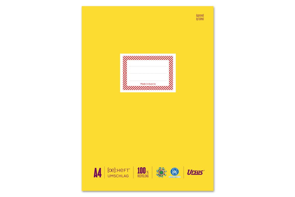 Papierheftschoner Ursus A4 gelb, Art.-Nr. 084800F-GE - Paterno Shop