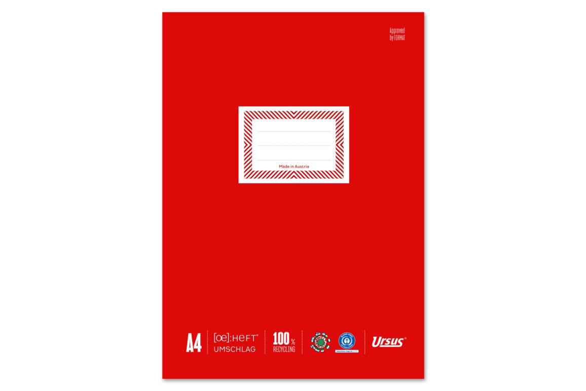 Papierheftschoner Ursus A4 rot, Art.-Nr. 084800F-RT - Paterno Shop