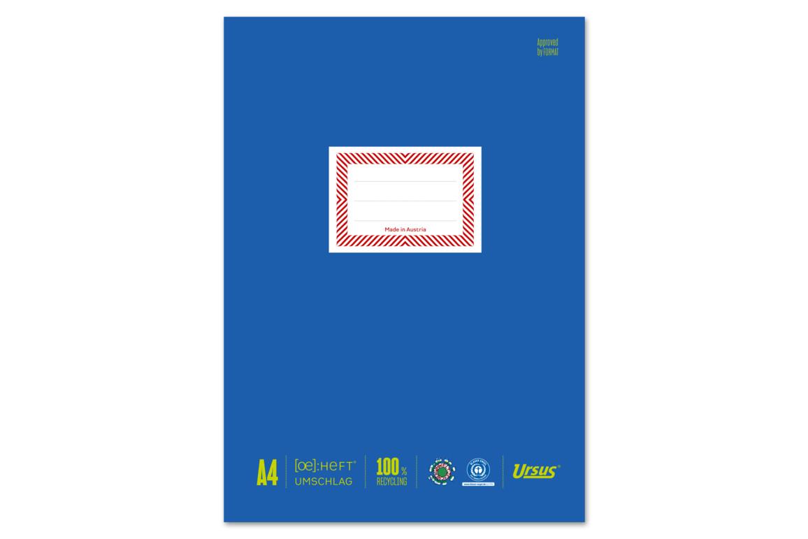 Papierheftschoner Ursus A4 blau, Art.-Nr. 084800F-BL - Paterno Shop