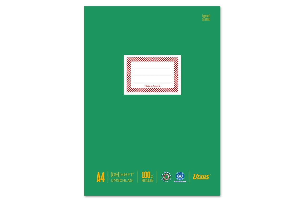 Papierheftschoner Ursus A4 grün, Art.-Nr. 084800F-GN - Paterno Shop