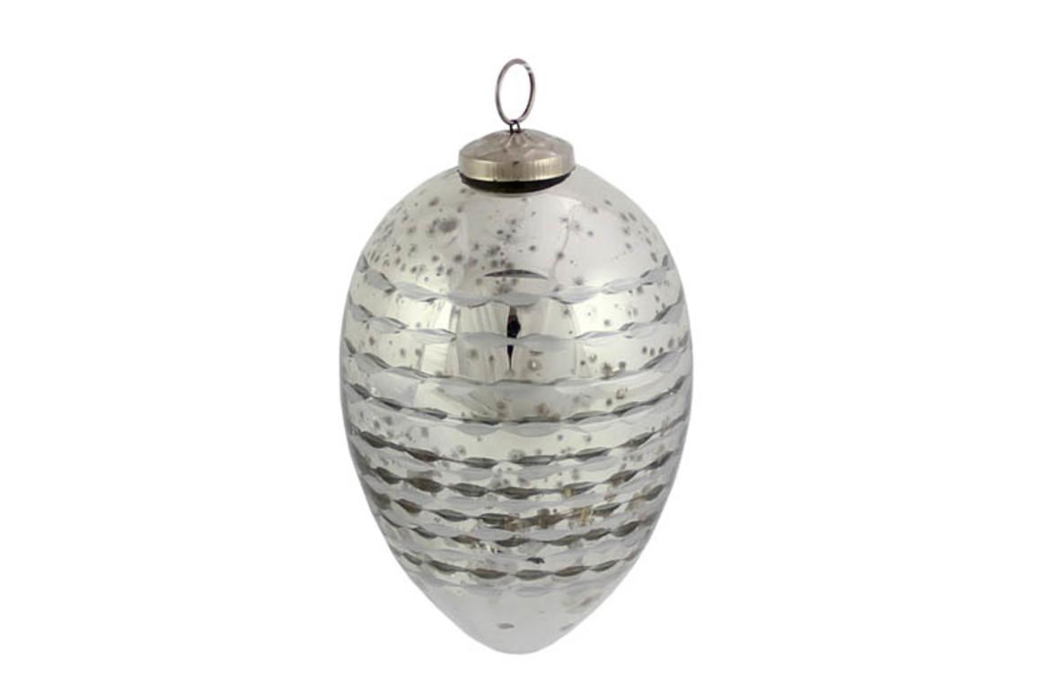 Hänge-Ei silber 15cm, Art.-Nr. 899028997 - Paterno Shop