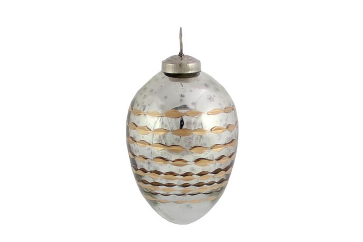 Hänge-Ei silber 11 cm, Art.-Nr. 899028838 - Paterno Shop