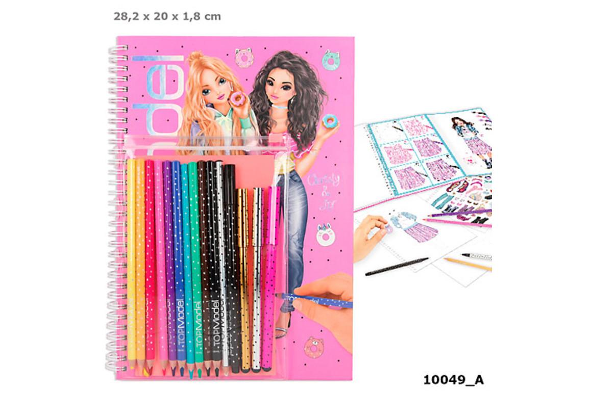 Malbuch mit Stifte-Set TOP MODEL, Art.-Nr. 10049 - Paterno Shop