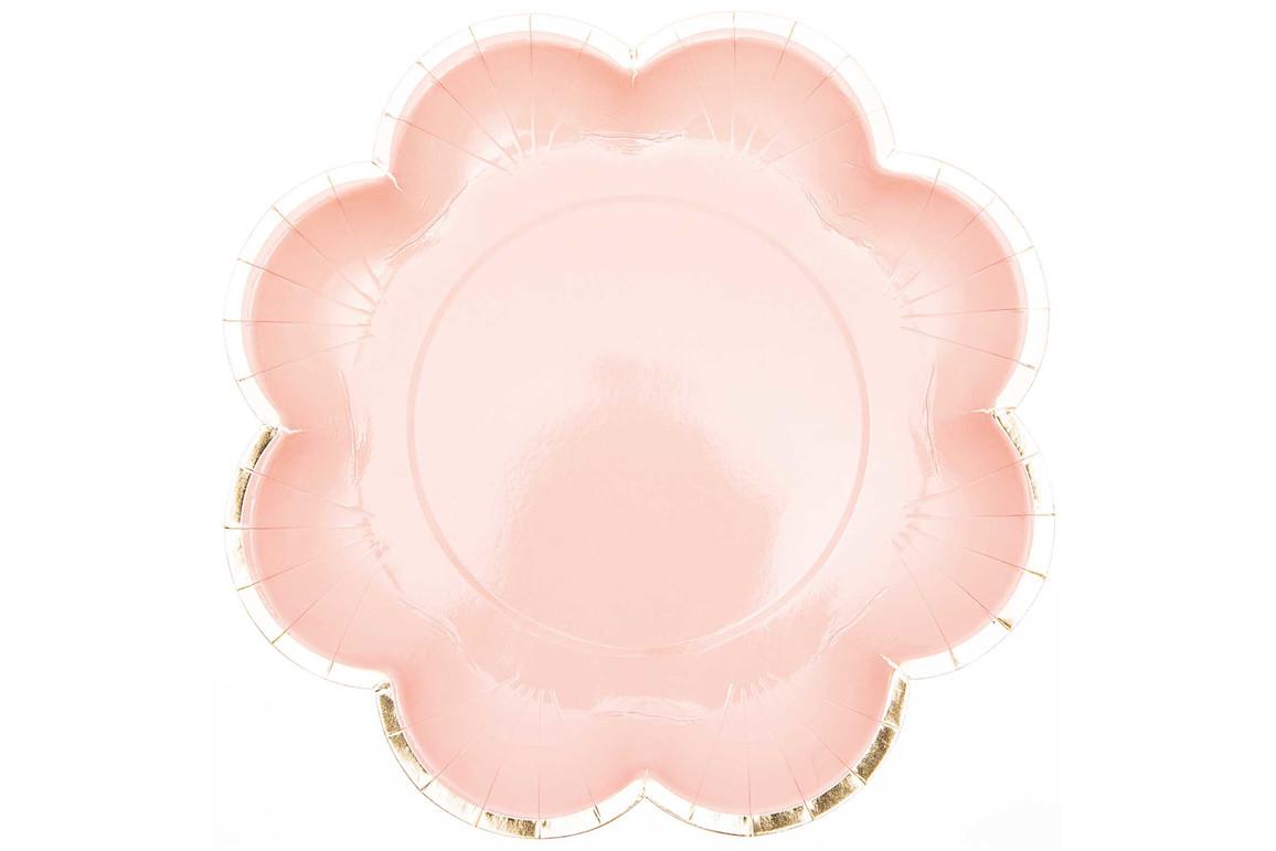 Partyteller rosa/gold 12 Stück, Art.-Nr. 99001.66.81 - Paterno Shop